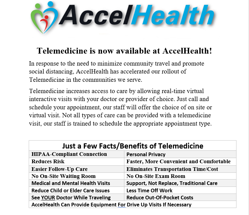 Telemedicine Available!